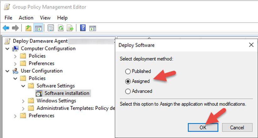 Group Policy Object cài đặt phần mềm tự động