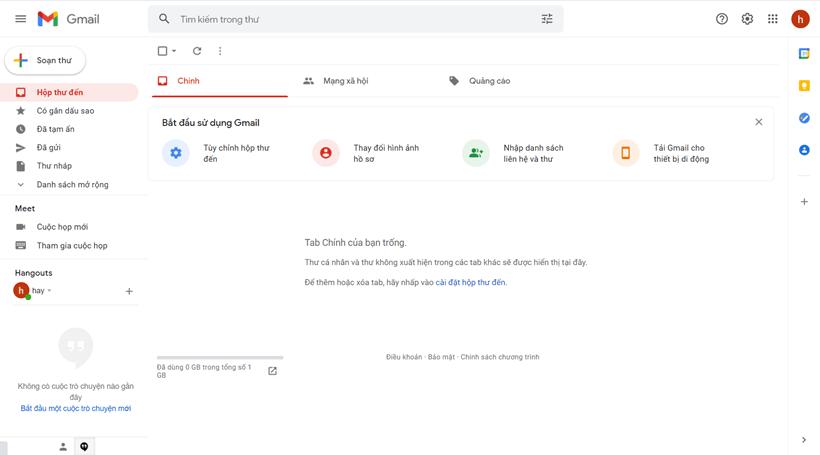 Cách tạo Gmail mới